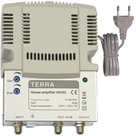 Усилитель ТВ сигнала Terra HA 123 антенный вход / выход, 28 dB