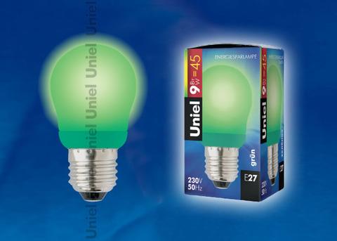 ESL-G45-9/GREEN/E27 Лампа энергосберегающая. Картонная упаковка