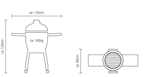 Керамический гриль Monolith Basic (черный)