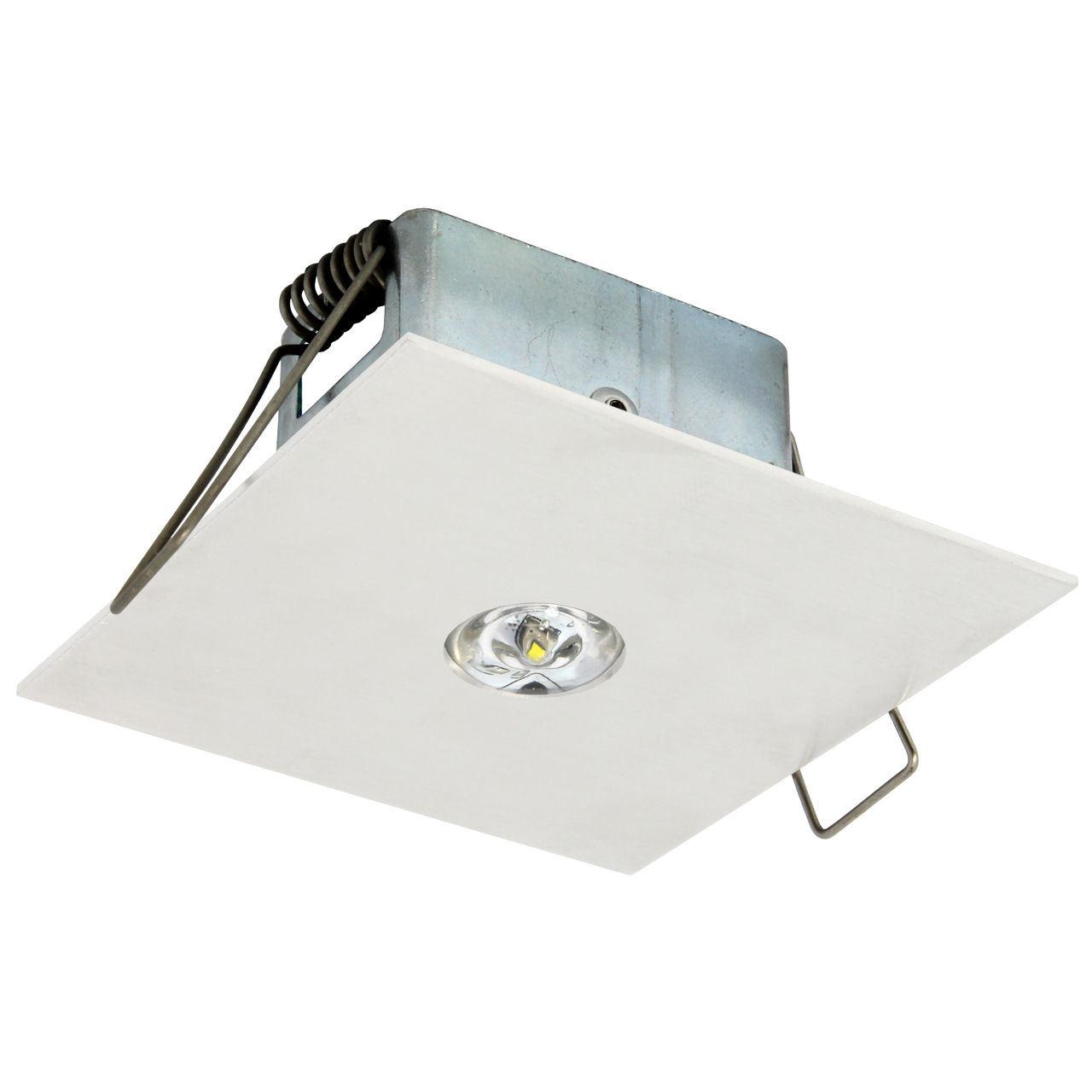 Встраиваемый эвакуационный светильник для освещения открытых зон EYE/O LED Square Awex