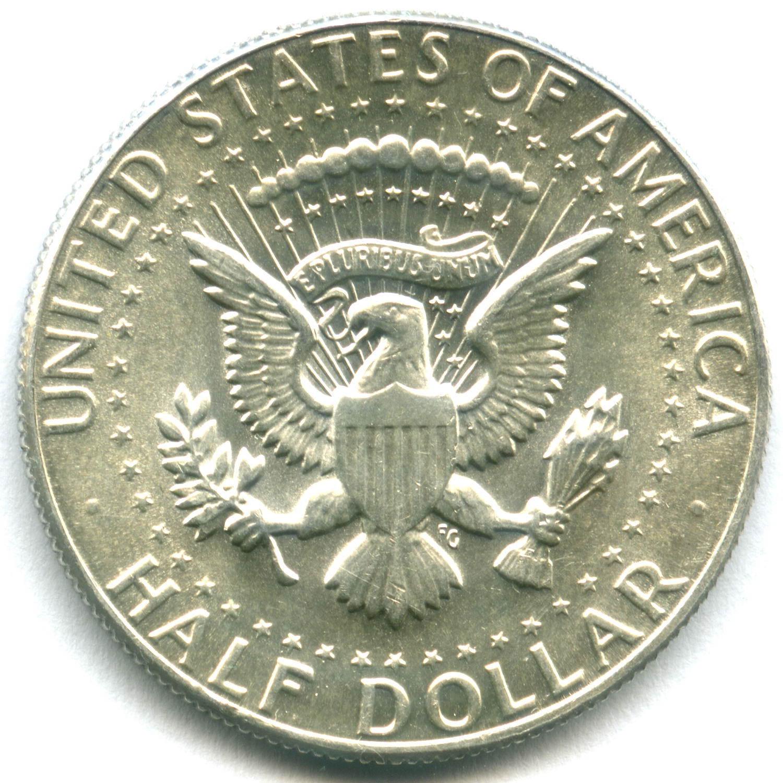 1/2 доллара 1969 (D). США AU (Кеннеди). Серебро