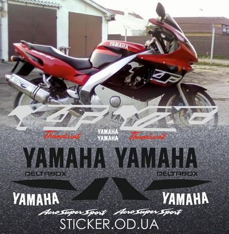 Набор виниловых наклеек на мотоцикл YAMAHA YZF 600R 1998, THUNDERCAT