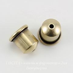 Концевик для шнура 6 мм TierraCast