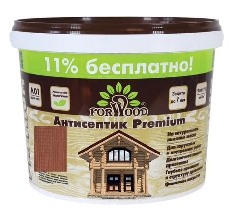 Forwood антисептик лессирующий вд-пф 1601 на льняном масле цвет орех 1л.