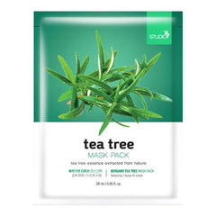 Bergamo Tea Tree Mask Pack - Маска тканевая для лица с чайным деревом