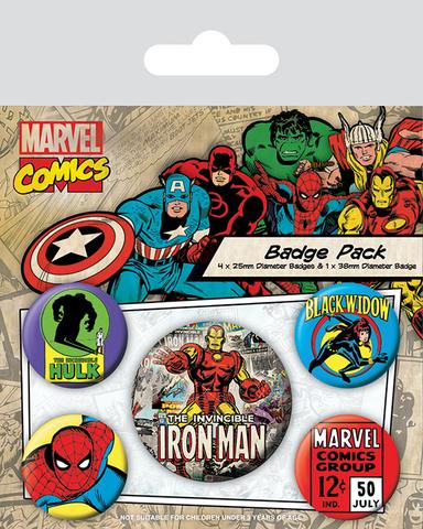 Набор значков «Marvel Retro. Железный Человек»