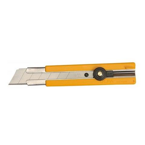Нож OLFA с выдвижным лезвием, с резиновыми накладками, 25мм