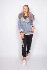 джинсовая зимняя куртка женская купить