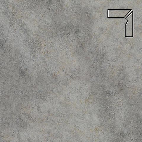 Interbau - Nature Art, Quarz grau/Серый, цвет 119 - Клинкерный плинтус ступени правый