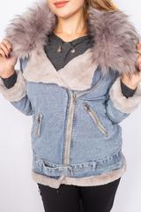 джинсовая зимняя куртка женская nadya