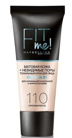 Maybelline Fit Me тональный крем матовая кожа + невидимые поры №110 слоновая кость