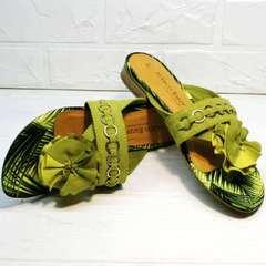 Женские сандали вьетнамки летние Marco Tozzi 2-27104-20 Green.