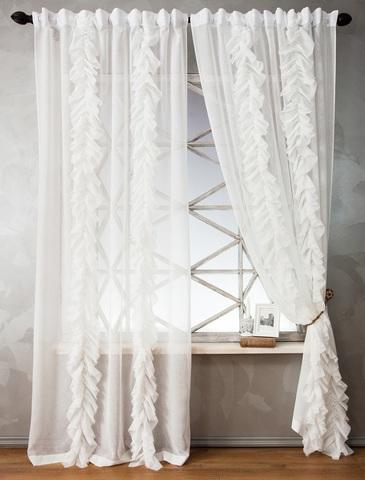 Комплект штор Иви белый