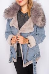 джинсовая зимняя куртка женская недорого