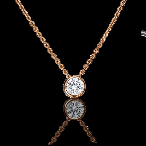 07-0085-00-501-1110-38 -Колье из золота с подвеской бегунок с кристаллом SWAROVSKI