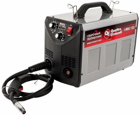 Аппарат полуавтомат. сварки, инвертор QUATTRO ELEMENTI  i-MIG 135 (120 А, ПВ 30%,  проволо (770-049)