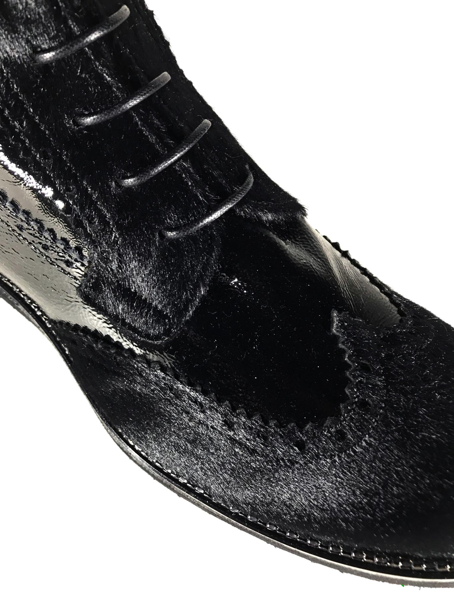 Зимние ботинки Laura Bellariva из кожи наплак 5516, артикул 5516, сезон зима, цвет чёрный, материал кожа наплак, мех каваллино, цена 18 500 руб., veroitaly.ru