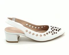 Туфли с открытой пяткой  и перфорированной кожи