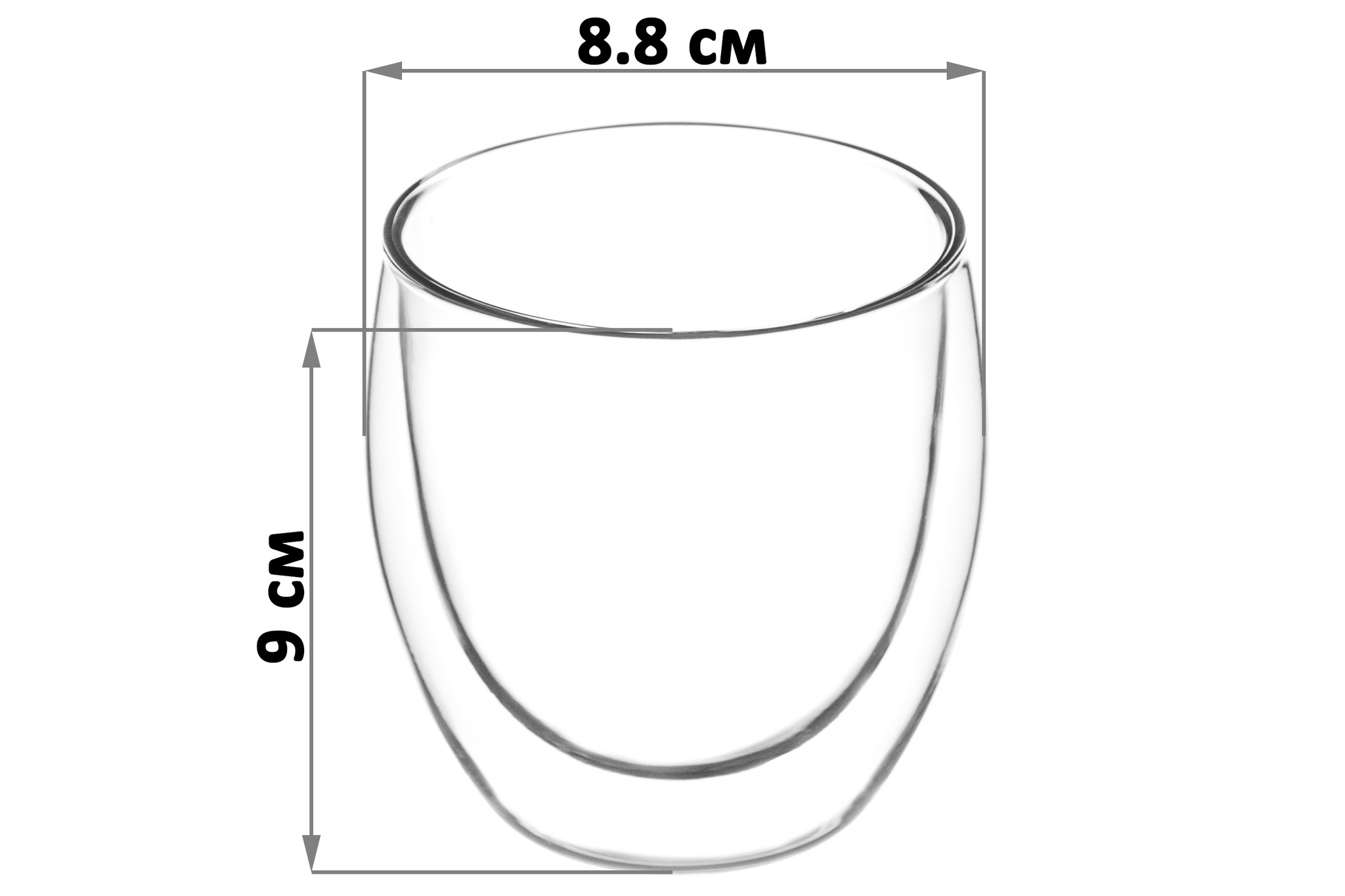 Набор 2 стаканов 250 мл