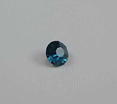 Стразы ювелирные (цвет - морская волна) 4,6 мм, 10 шт