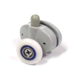 Корпус ролика R-17-A 23 выполнен из пластика, имеет два посадочных места размером 11 мм. и межцентровым 30 мм. Регулировка ролика происходит за счет пружины.