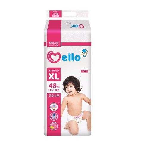 Подгузники Mello размер XL (12-17 кг) 48 шт