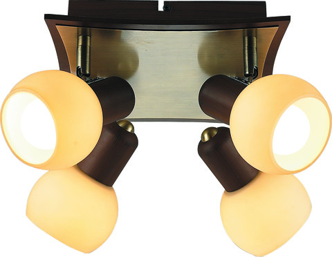 INL-9275C-04 Antique brass & Walnut