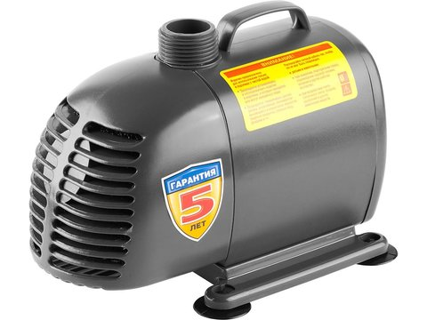 Насос фонтанный, ЗУБР ЗНФЧ-60-4.2, для чистой воды, напор 4,2 м, насадки: колокольчик, гейзер, каскад, 120 Вт, 60 л/мин