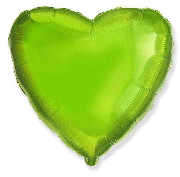 Шар Сердце Лайм 46 см