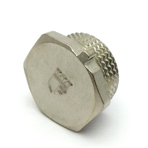 Заглушка латунная никелированная SD Forte 1/2