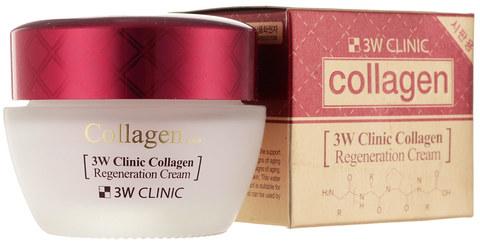 Регенерирующий крем с морским коллагеном для лица 3W Clinic Collagen Regeneration Cream, 60мл