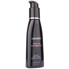 Съедобная смазка со вкусом граната Wicked Aqua Pomegranate - 120 мл.