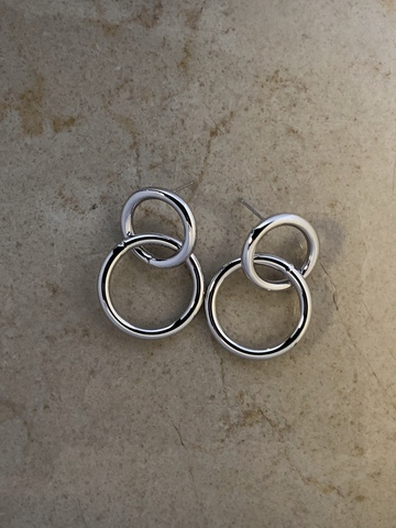 Серьги Анио, серебряный цвет