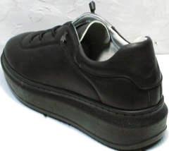Утепленные кроссовки женские кожаные Rozen M-520 All Black.