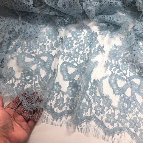 Кружевное полотно SH Нежно-голубой N242