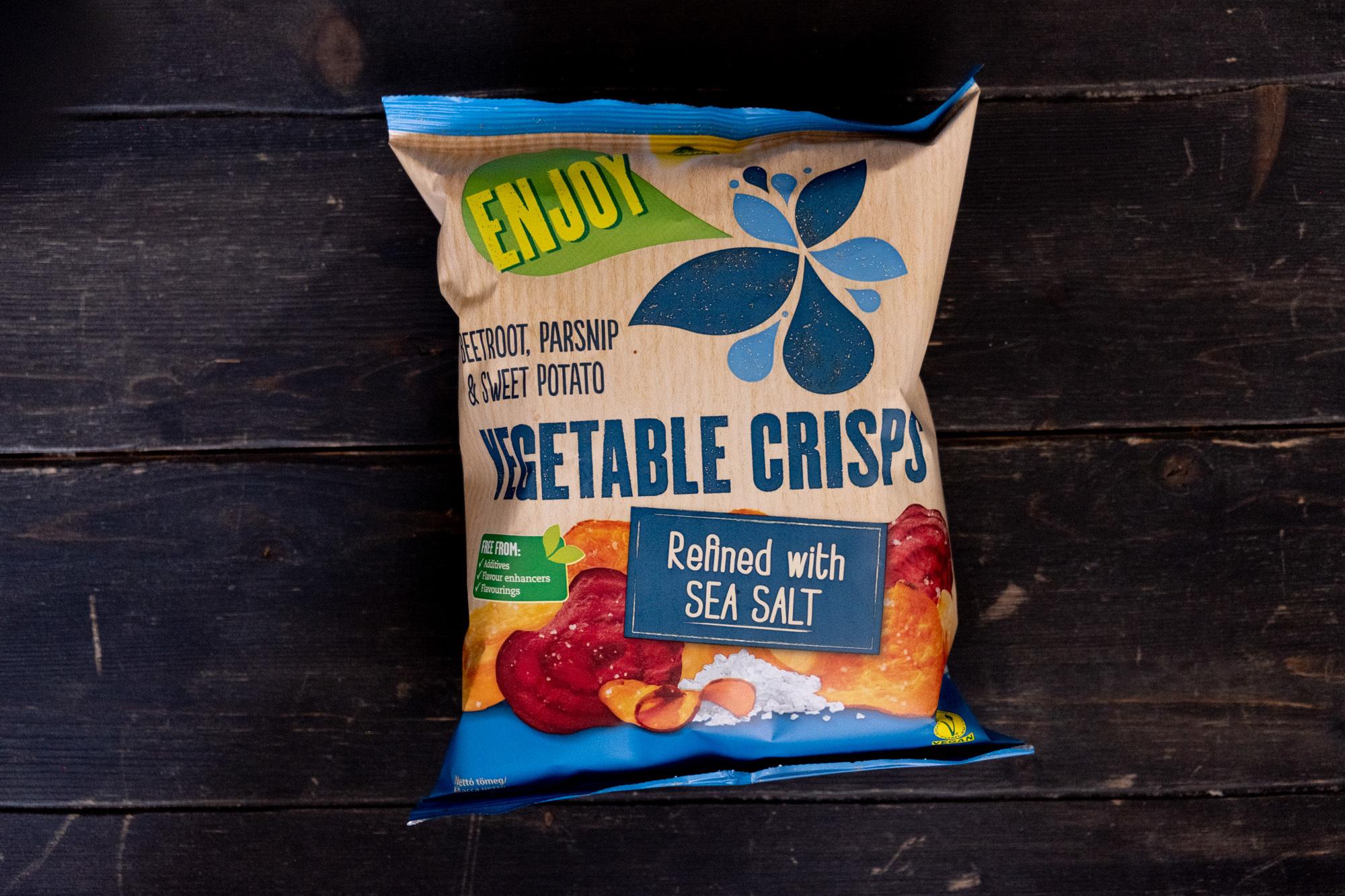 Овощные чипсы с морской солью