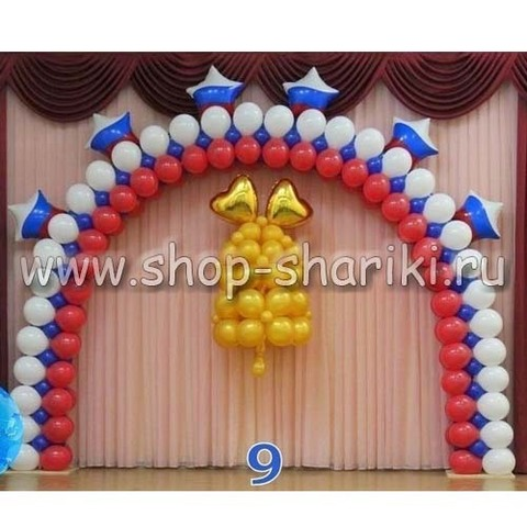 арка из шаров с колокольчиком