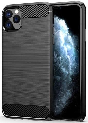 Чехол iPhone 11 Pro Max цвет Black (черный), серия Carbon, Caseport