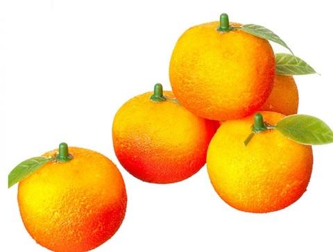 Набор мандаринов 4шт., D4,5см, оранжевый