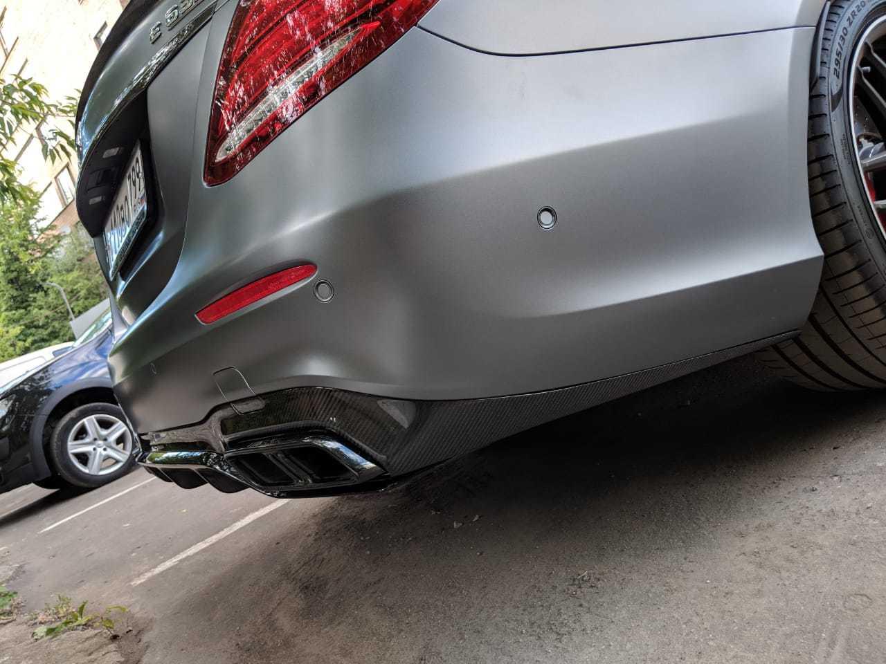 Карбоновый диффузор заднего бампера     для Mercedes E63 AMG W213