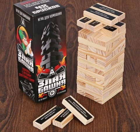 Настольная игра «Злая башня», 48 брусков
