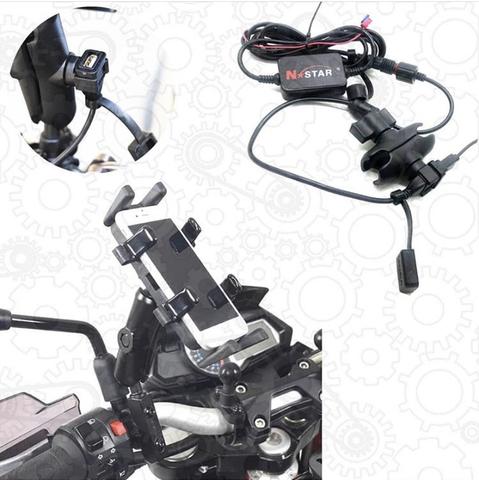 Металлический держатель с USB-разъемом для телефона на руль мотоцикла, X-80