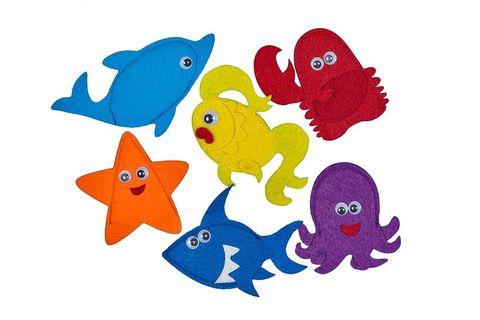 Пальчиковые игрушки Морские обитатели из фетра, Smile decor
