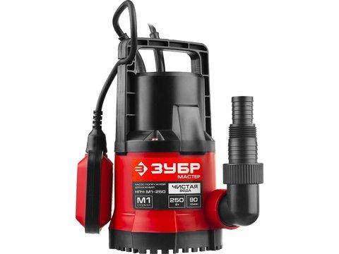 ЗУБР НПЧ-М1-250 дренажный насос с минимальным уровнем откачки, 250 Вт
