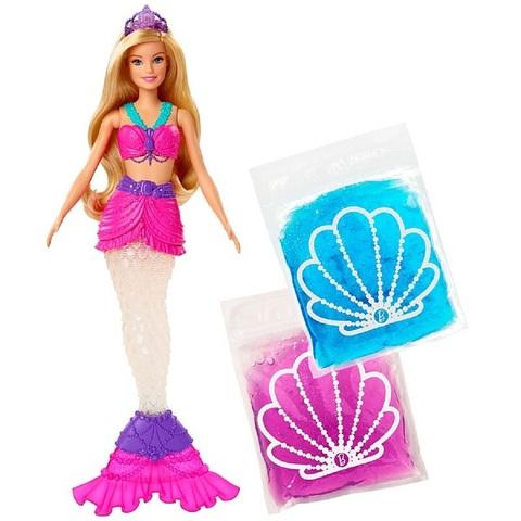 Барби Дримтопия Русалка с двумя слаймами