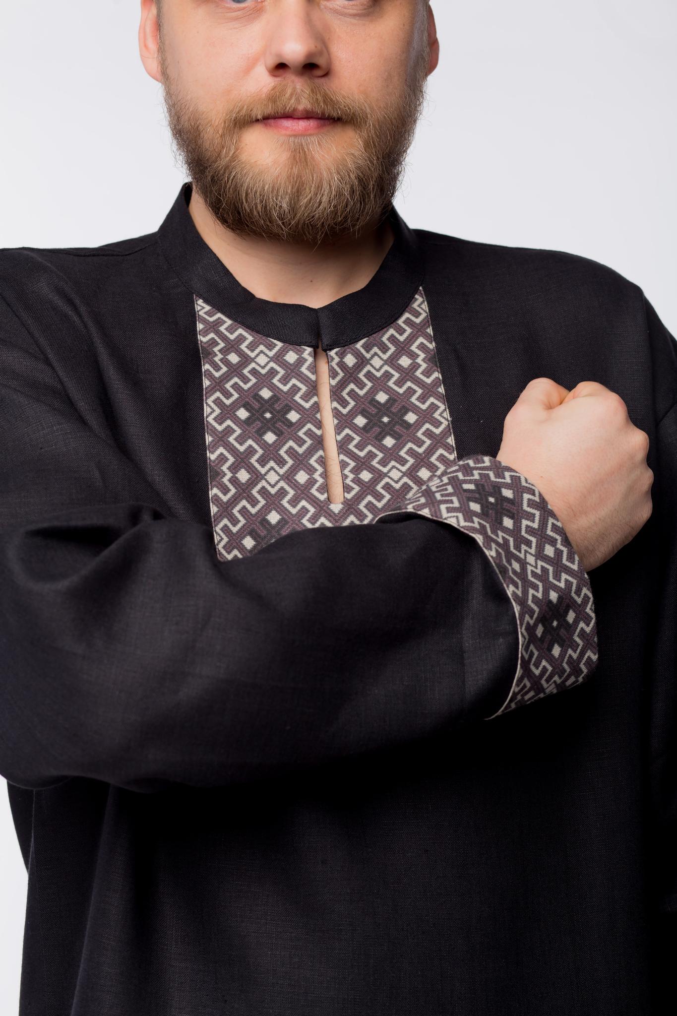 Рубаха мужская льняная Уральская приближенный фрагмент