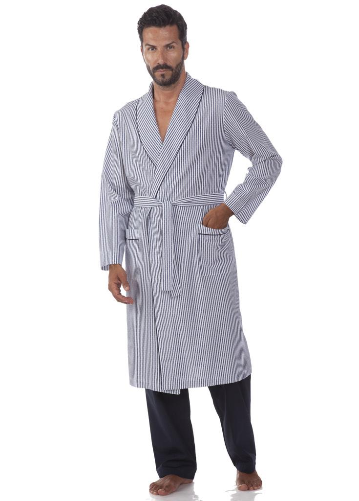Мужской халат в полоску B&B