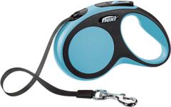 Поводок-рулетка Flexi New Comfort S (до 15 кг) лента 5 м черный/синий