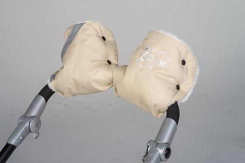 Рукавички на коляску меховые