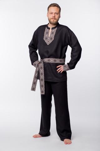 Рубаха мужская льняная Уральская
